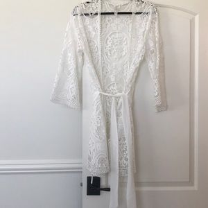 Embroidered cover up robe